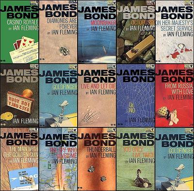 james bond Pan book covers
