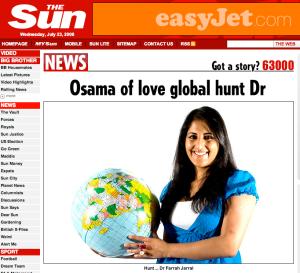 Osama of Love global hunt Doctor