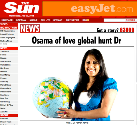 Osama of Love global hunt Doctor