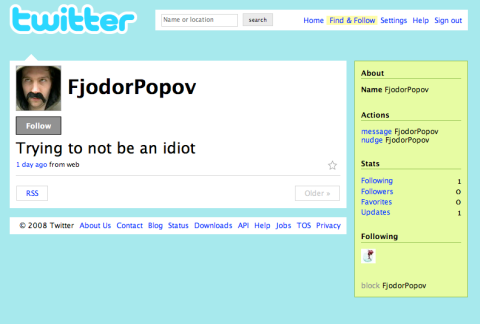 Twitter paranoia