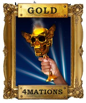 gold blog button