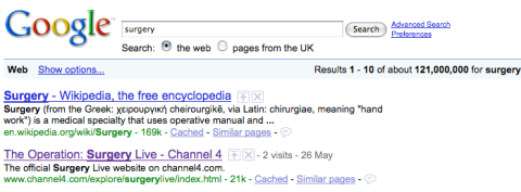 Google - surgery