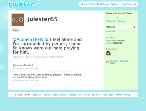 Alone in the Wild Twitter screenshot 3