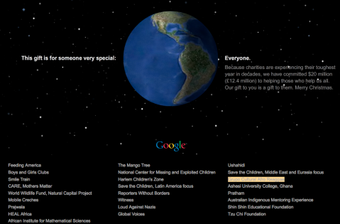 Google Christmas message
