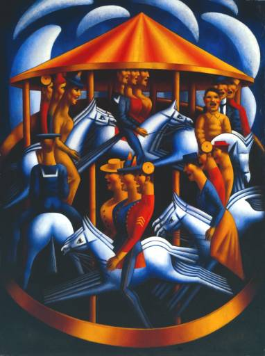 Merry-Go-Round by Mark Gertler