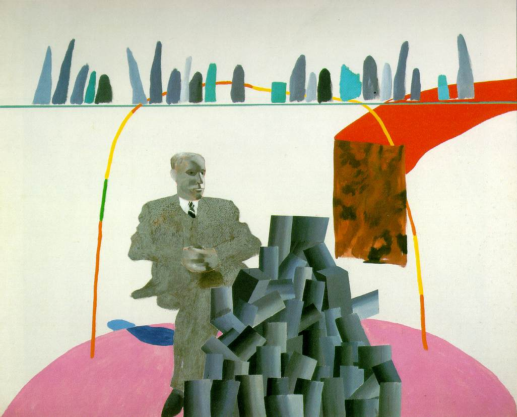 Portrait Surrounded by Artistic Devices - David Hockney