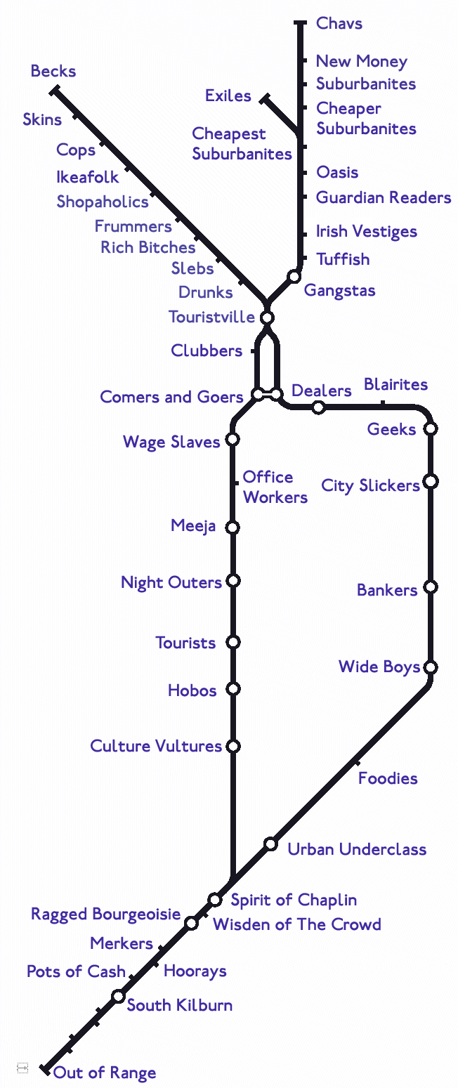 What The Northern Line Would Look Like If It Was Actually Northern ...