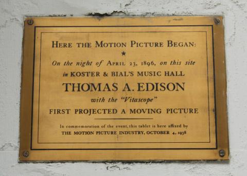 Edison plaque