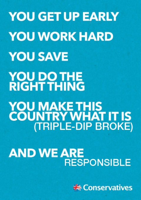 Tory poster Responsible