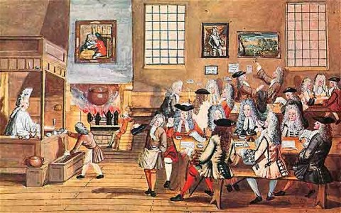 A London coffee house 1668 (Photo courtesy of Lordprice Collection / Alamy)