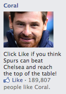 Dodgy Facebook advertising