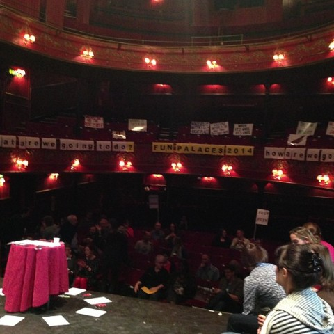 view from stage Theatre Royal Stratford