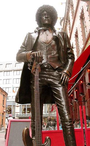 Phil Lynott statue Thin Lizzy Dublin