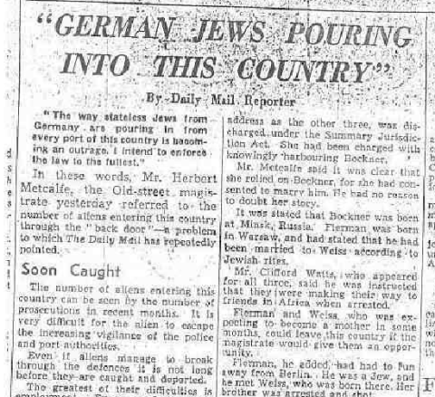 Daily Mail anti-semitism