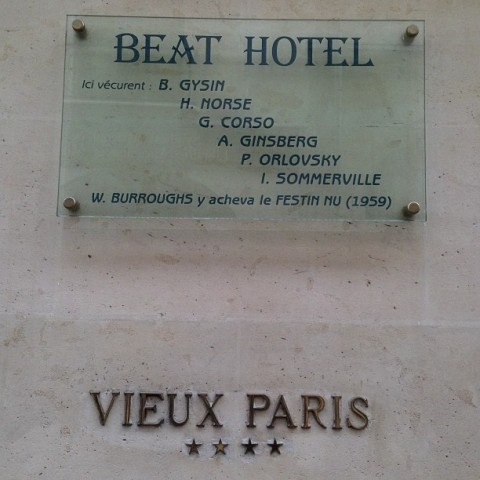 sign The Beat Hotel, rue Git-le-Coeur, Paris 6