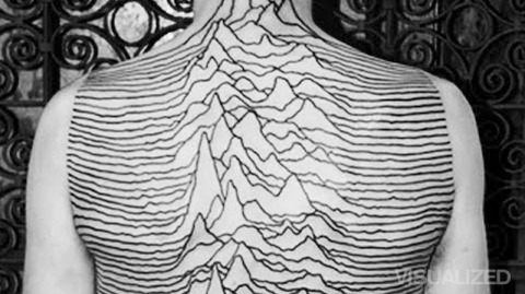 record cover Joy Division Unknown Pleasures Peter Saville tattoo