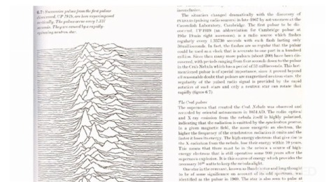 Cambridge Encyclopedia of Astronomy source image for Unknown Pleasures Peter Saville