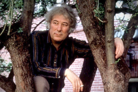 Irish poet Seamus Heaney, winner of the 1995 Nobel Literature Prize