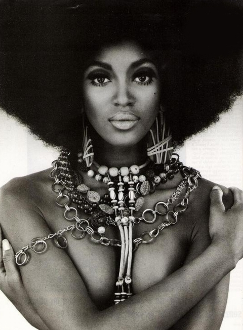 70s afro woman female