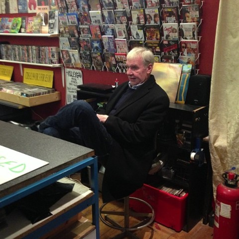 Terri Hooley in Good Vibrations Belfast record store