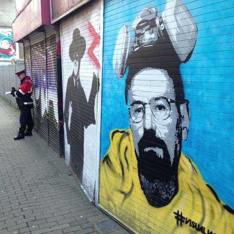 breaking bad graffiti