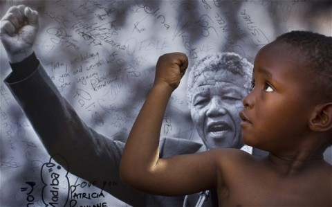 nelson mandela and child