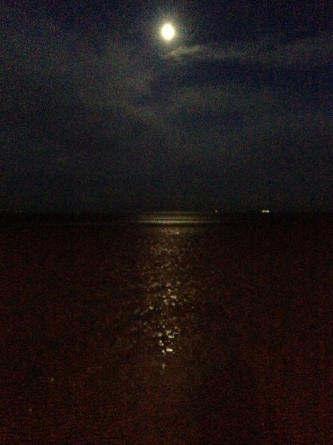 sandymount strand dublin moonlight