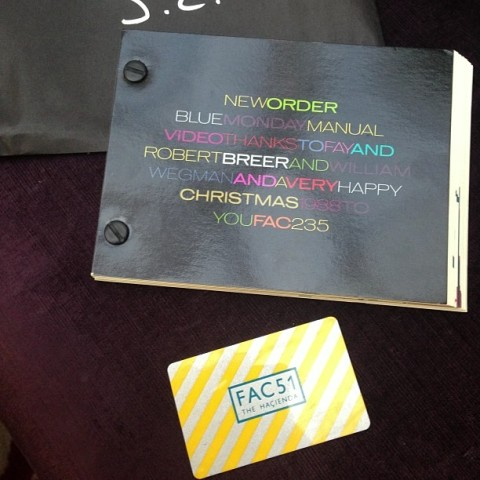 Factory records Christmas card 1988 and Hacienda membership card
