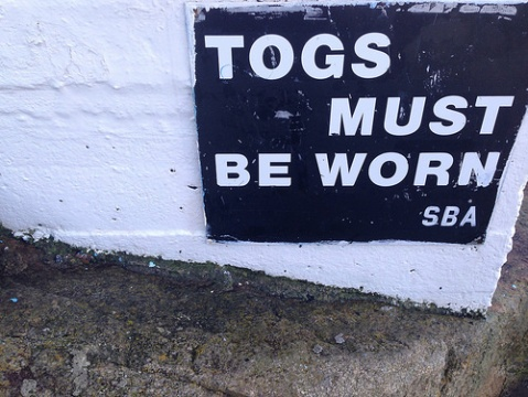 The Forty Foot togs sign