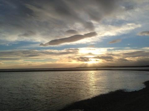 Sandymount Strand morning sunrise Dublin Ireland