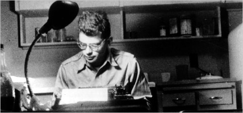 allen_ginsberg at his desk