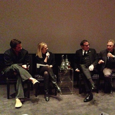 Christian Bale, Edith Bowman, David O Russell, Charles Roven
