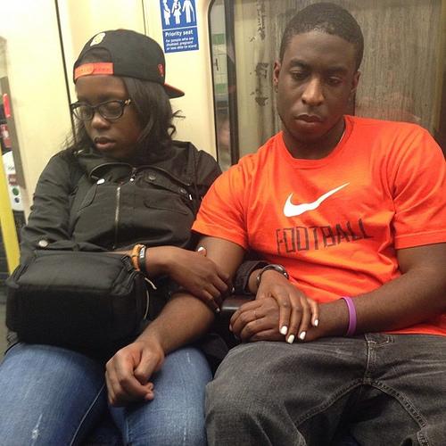 tube couple underground red