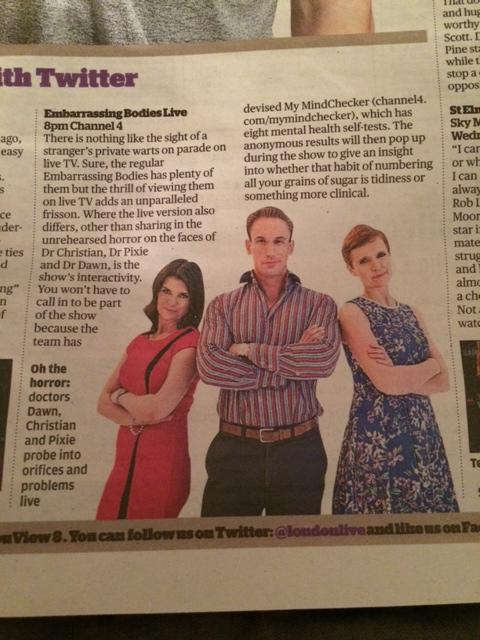 Evening Standard 15.iv.14