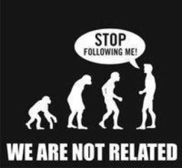 evolution denied ape to man