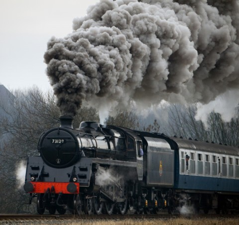 Steam train colorised