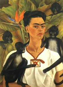 frida kahlo painting monkeys