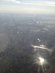 river plate argentina from plane