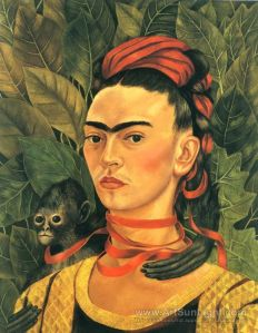 self-portrait-with-monkey-by-Frida-Kahlo