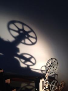 film movie projector shadow