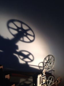 film movie projector shadow