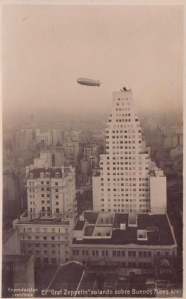 graf zeppelin flying over buenas aires 1934 airship german