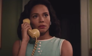 Actress Carmen Ejogo as Coretta Scott king in the movie selma