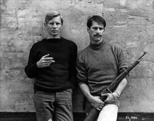 Michael York and Simon Maccorkindale as Carruthers and Davies