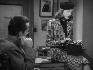 Lauren-Bacalls-style-The-Big-Sleep Bogart office Marlowe