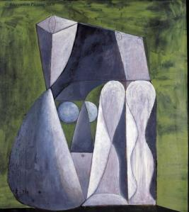 picasso nu assis sur fond vert 1946 musee picasso antibes