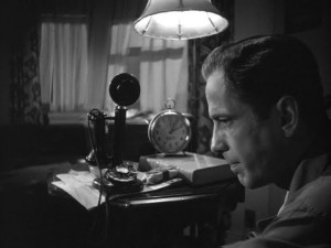 bogart film noir phone maltese falcon
