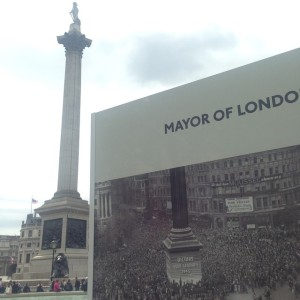 VE Day 70 Nelson's column Trafalgar Square 1945 2015