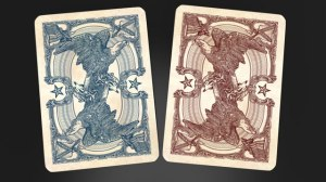 bicycle playing cards civil war design