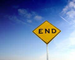 End sign USA
